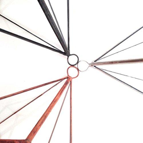 Goutte d'Eau Mega taille avec support – Terrarium en verre géométrique moderne/fleurs/intérieur Indoor/Fait à la main, Verre, Rustic Copper Patina, 30x30x45