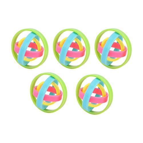 NUOBESTY 5Pcs Mini Finger Gyro Fidget Espiral Juguetes Anillos Juguetes Hand Spinner Escritorio Gadget Spinning Top Focus Juguetes para Hombre Mujer Niños Niñas Niños Adultos Colorido