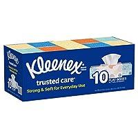 Kleenex 2-Ply White Facial Tissue, 10 Count by Kleenex