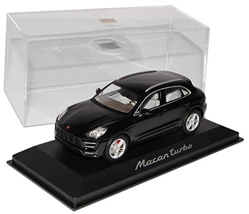 Minichamps Porsche Macan Turbo SUV Schwarz Ab 2013 1/43 Modell Auto mit individiuellem Wunschkennzeichen