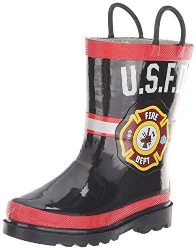 Western Chief boys Waterproof Pvc Light-up Boot Rain Shoe, Black, 13 Little Kid US