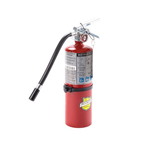 Buckeye 25614 ABC Multipurpose Dry Chemical Hand Held Fire Extinguisher with Aluminum Valve and Vehicle Bracket, 5 lbs Agent Capacity