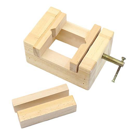 #N/A Zoomne - Abrazadera ajustable de madera para mesa con mordaza para tallar joyas, herramientas fijas