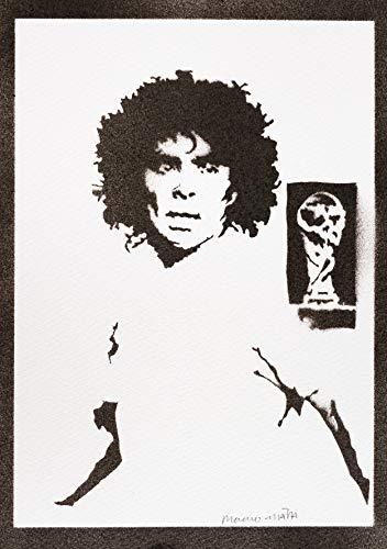 Diego Maradona Poster Plakat Handmade Graffiti Street Art - Artwork