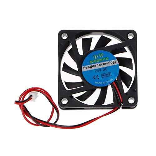 Mayoaoa 6010 - Ventilador para PC (Extremadamente silencioso, 60 mm, 24 V, 2 Pines, 60 x 60 x 10 mm)
