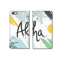 301-sanmaruichi- iPhone7plus ケース iPhone7plus 手帳ケース 手帳型 おしゃれ ハワイ aloha アロハ パーム ヤシの木 シンプル 夏 B シボ加工 高級PUレザー 手帳ケース ベルトなし