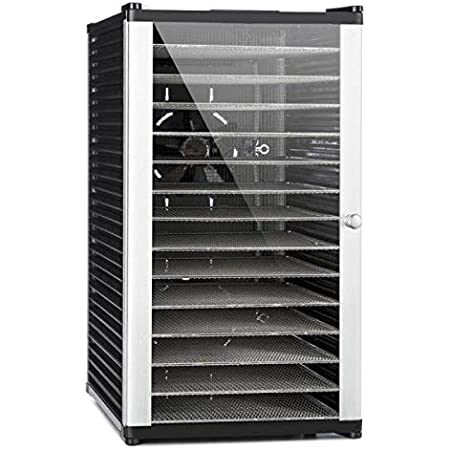 Klarstein Fruit Jerky 14 - déshydrateur, robot déshydrateur, déshydrateur à viande et fruits, 14 niveaux, conception à tiroirs, 1000 watts, recyclage d'air, séchage 1,8 m², silencieux, noir