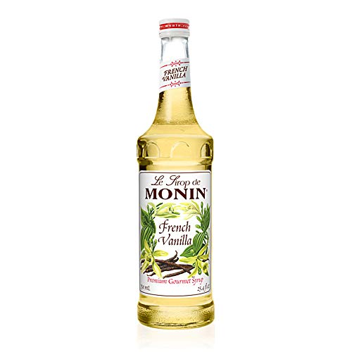 Monin - French Vanilla Syrup, Versatile Flavor, Natural Flavors, Great for Coffees, Cocktails, Shakes, and Kids Drinks, Vegan, Non-GMO (750 ml)
