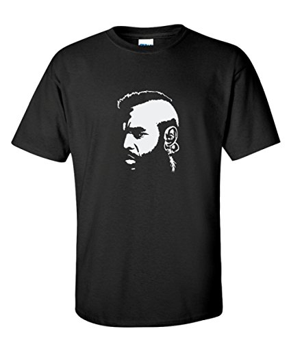Clubber Lang Mr T Boxing 80s Movie Black T-Shirt (X-Large)