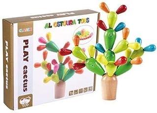 Al Ostoura Toys Alphabet Cactus Educational Wooden Toy
