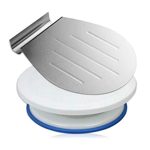Transferencia Tray Bandeja Scoop Pastel Placa Moviendo Pan Pizza Blade Shovel Bakeware Scraper con una torta giradiscos