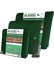 CoverUp! afdekzeil groen [200 g/m2] + doekspanners, waterproof dekzeil met ogen voor tuinmeubilair, zwembad, auto, aanhanger, waterdicht & scheurbestendig beschermend doek robuust