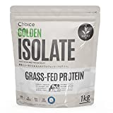 Choice GOLDEN ISOLATE (ゴールデンアイソレート) ホエイプロテイン 抹茶 1kg [ 有機抹茶使用/人工甘味料不使用 ] GMOフリー タンパク質摂取 グラスフェッド (アイソレート プロテイン/国内製造) WPI 天然甘味料 ステビア 飲みやすい