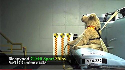 Sleepypod ClickIt Sport Crash-Tested Car Safety Dog Harness (Large, Orange Dream)