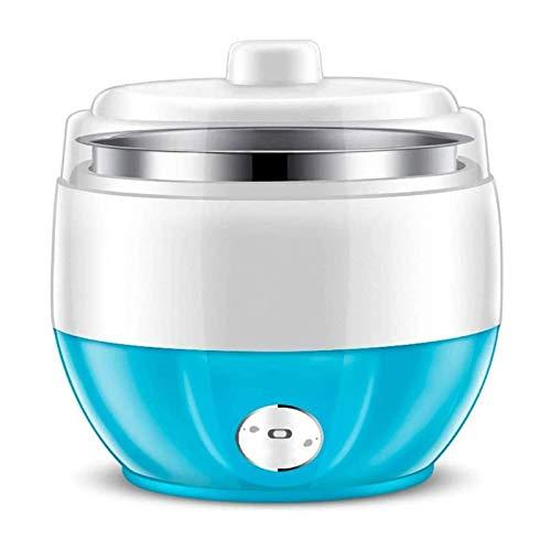 SFLRW Maker automático de Yogurt, 1L Hogar eléctrico Yogurt Yogurt Yogurt DIY Fabricante de Acero Inoxidable Contenedor Interior 220V, Fabricante de Yogurt (Azul)