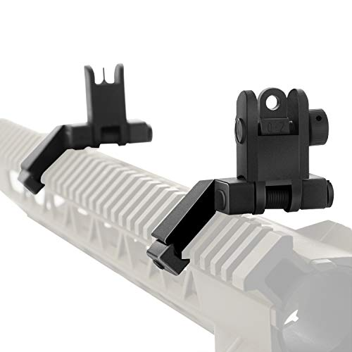 45 Degree Offset Flip Up Sight   Low Profile Design Rapid Transition Front and Rear flip up Sights