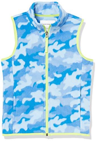 Amazon Essentials Polar Weste Fleece-Outerwear-Vests, blau Camouflage, 11-12 Jahre