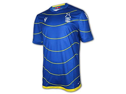 Macron Nottingham Forest Away Shirt 20 21 blau NFFC Auswärts Trikot Fan Jersey, Größe:L