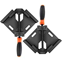 2-Pack Tacklife HAC3B Single Handle Aluminum Alloy 90-Degree Right Angle Corner Clamps