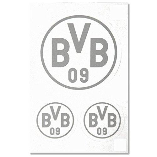 Borussia Dortmund Autoaufkleber / Aufkleber / Sticker silber 3er Set BVB 09 - plus gratis Aufkleber forever Dortmund