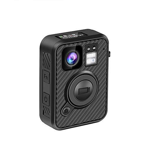 BOBLOV 1440P Telecamera Corpo Camera Polizia WiFi Registrazione Video 10H con Visione Nocturna GPS Amba H22 (F1 32G)