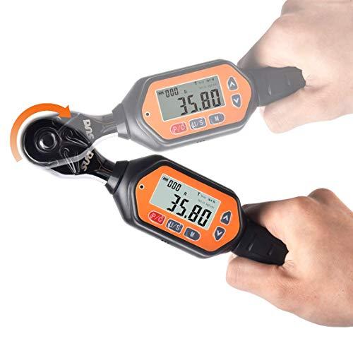 SUGミニ デジタルトルクレンチ 1.8-60Nm デジタルミニレンチ プリセット型 差込角9.5mm (3/8インチ) 双方向ラチェットヘッド バイク用 タイヤ交換 ねじ ボルト ナット用小トルクレンチ ケース付き