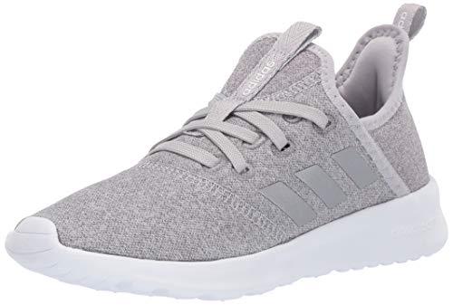 adidas Kids Cloudfoam Pure, Grey/Silver Metallic/White, 5 M...