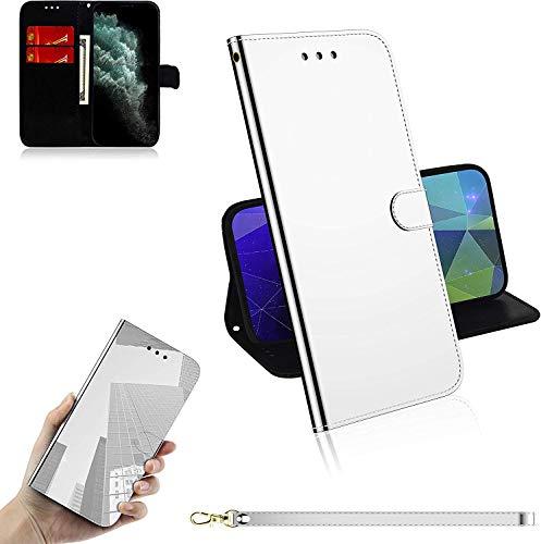 Sunrive Case PU Lederen Telefoon Holster Case Card Slot Flip Portemonnee Stand Functie gel magnetische Beschermende Huidhoes (), Stand Case, Wiko Pulp Fab 4G, Kleur: wit