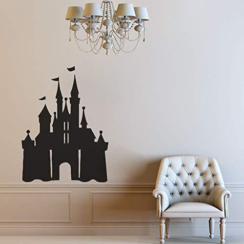 Castillo mágico pegatinas de pared niños habitación de bebé jardín de infantes dormitorio decoración de interiores vinilo pegatinas de pared cartel de dibujos animados