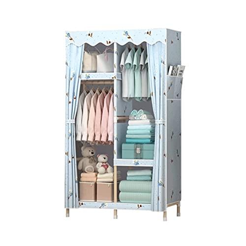 LICHUAN Armario de madera para armario, organizador de almacenamiento de ropa, armario, portátil, armario, organizador de armario, estante con barra para colgar para dormitorio, guardarropa