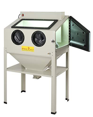 Pro-Lift-Montagetechnik Sandstrahlkabine 220 Liter inkl. Zubehör, SB220ABJ, Lampengehäuse nach außen verlegt, 01557