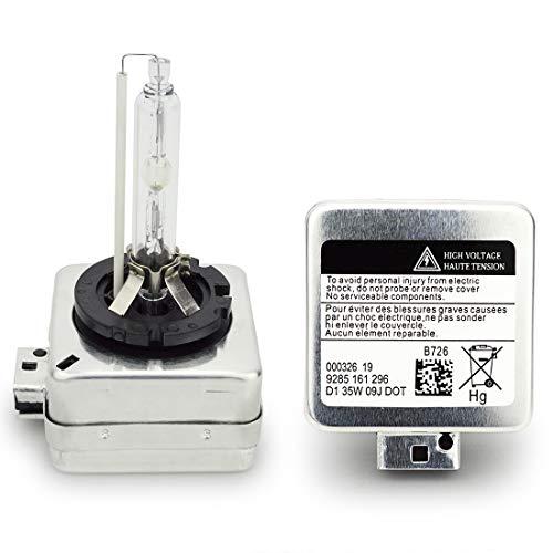 Safego AC D1S Xenon HID Ampoule Lampe à Décharge Phare Ampoule de Rechange HID Lampe Xénon 35W 4300K Blanc chaud Pour Voiture CA 12V