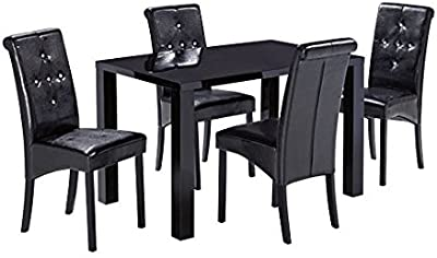 Enjoyable Julian Bowen Hudson Dining Table Black Lacquer Amazon Co Onthecornerstone Fun Painted Chair Ideas Images Onthecornerstoneorg