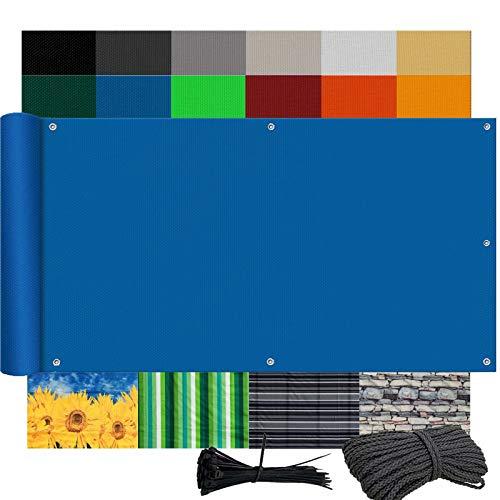 Ziligengsheng Toldo Lateral Balcon 140x300cm, Protección UV, Instalación Simple y Segura, para...