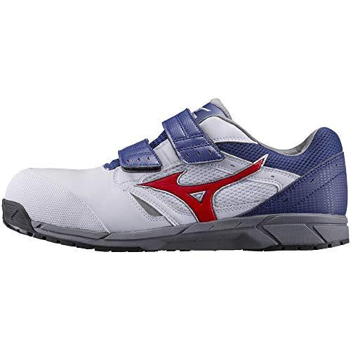 [ミズノ] 安全靴 オールマイティ LS 軽量 ベルト JSAA・普通作業用(A種) ホワイト×オレンジ×ネイビー 29 cm 3E