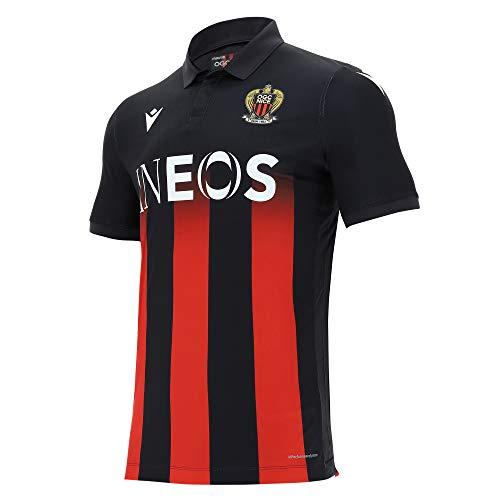 Macron Nice.M20 Matchday AUTH. Home Shirt SS SR, Trikot OGC Nizza 2020/21 für Herren, Schwarz, S