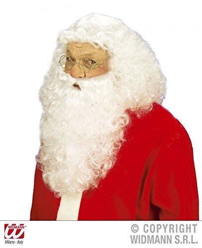 WIDMANN S.R.L. Parrucca di Babbo Natale con barba, ottima qualità, Babbo Natale