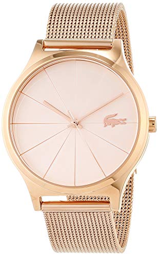 Lacoste Womens Analoog Klassiek Quartz Horloge met Rose Goud Band 2001043