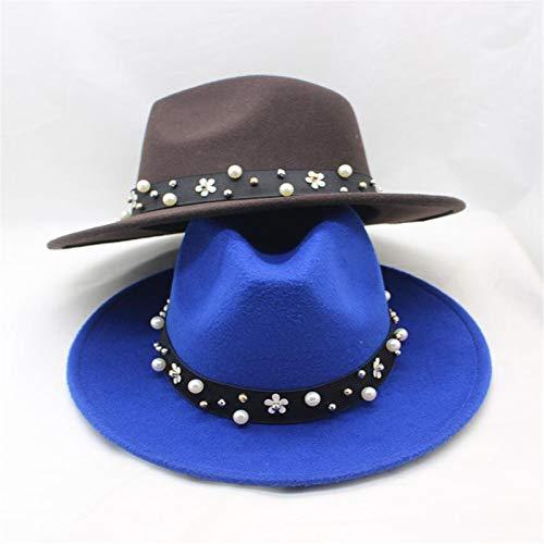 Sombrero De Color Sólido De La Moda De 2 Pícaros, De Ancho De La Mujer Field Field Fedora, Transpirable, Cálido, Versátil,3,One size