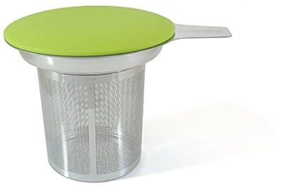 Best Loose Leaf Tea Infuser & Herbal Tea Steeper - Brews, Strains & Steeps Single Cup of Extra Fine Tea - Dishwasher Safe Silicone Top and Stainless Steel Tea Tumbler Basket & Infuser