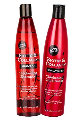4. Champú y acondicionador de engrosamiento de cabello con biotina y colágeno. Dúo.