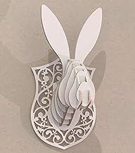 Trofeo testa coniglio lepre arredamen design casa negozio Stravagante Puzzle 3D