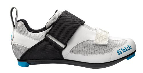 Fizik K5Donna–triatlón ciclismo zapatos, mujer, Silver/ White/ Blue