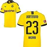 PUMA Borussia Dortmund BVB Heimtrikot 2019 2020 Home Trikot Sponsor BL Logo Kinder Thorgan Hazard 23 Gr 152