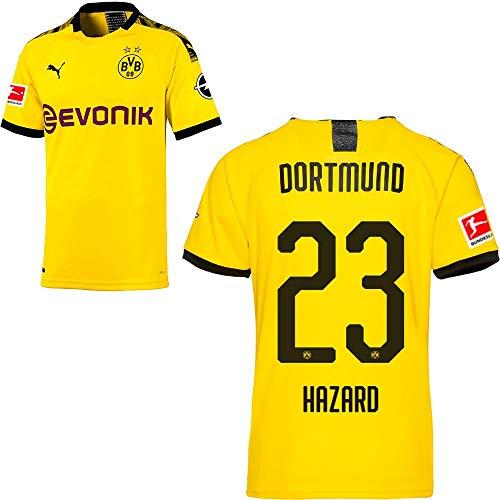 PUMA Borussia Dortmund BVB Heimtrikot 2019 2020 Home Trikot Sponsor BL Logo Herren Thorgan Hazard 23 Gr M