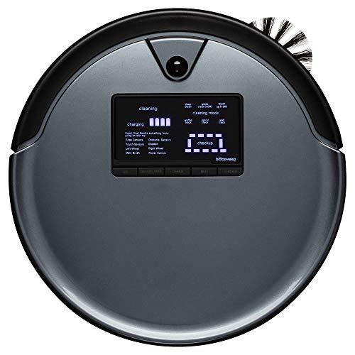 bObsweep PetHair Plus Robotic Vacuum Cleaner and Mop, Charcoal (Renewed)