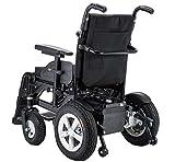 BYCDD Heavy Duty Silla de Ruedas, Caja Plegable Eléctrica Power Chair Poder Viajar Sea más fácil Silla de Transporte para el Transporte y Almacenamiento,Black