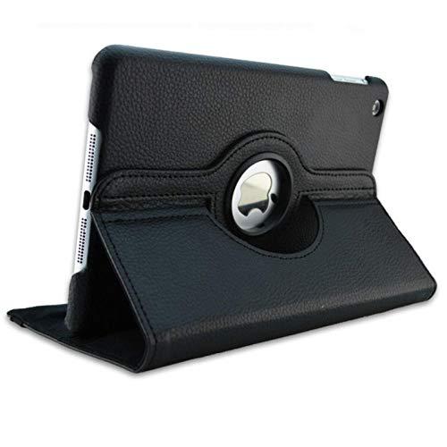 Funda giratoria de Cuero PU de 360 Grados para Samsung Galaxy Tab 2 10.1 P5100 P5110 P7500 P7510 Funda para Tableta Tab2 10.1 Vidrio-Negro