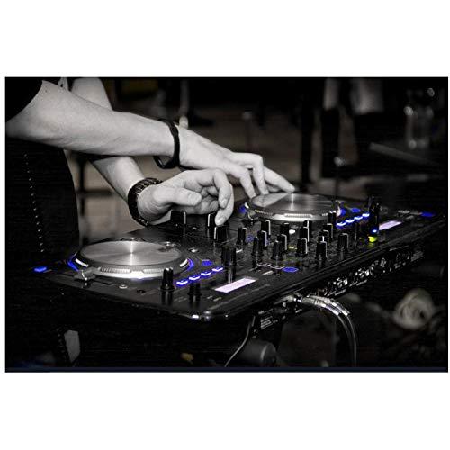 YQQICC Consola de DJ impresión de instrumentos póster de arte de pared Festival de música al aire libre imagen Bar habitación decoración del hogar 50x70cm sin marco
