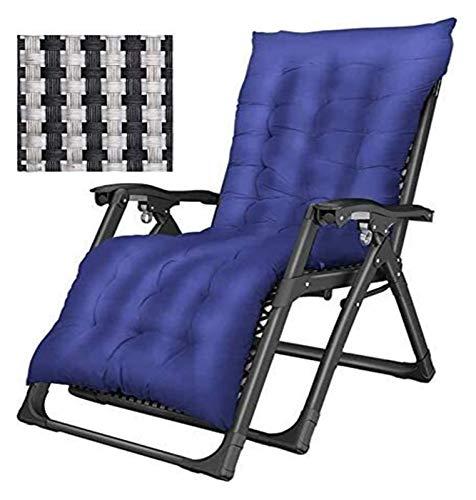 MTCWD Tumbona de jardín Sillas Sillas Silla Plegable de Gran tamaño Que acampan Sol tumbonas con Cojines Gravedad Cero Patio Salones
